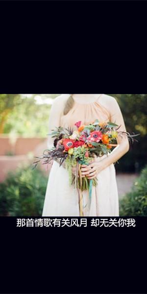 黑色系带字QQ皮肤 少女如鲜花般唯美