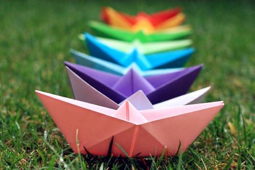 纸船 七彩纸船